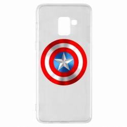 Чехол для Samsung A8+ 2018 Captain America 3D Shield