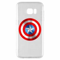 Чехол для Samsung S7 EDGE Captain America 3D Shield