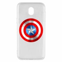 Чехол для Samsung J5 2017 Captain America 3D Shield
