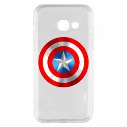 Чехол для Samsung A3 2017 Captain America 3D Shield