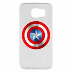 Чехол для Samsung S6 Captain America 3D Shield