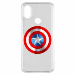 Чехол для Xiaomi Mi A2 Captain America 3D Shield