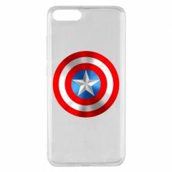 Чехол для Xiaomi Mi Note 3 Captain America 3D Shield