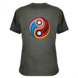 Камуфляжная футболка Captain America & Iron Man - FatLine