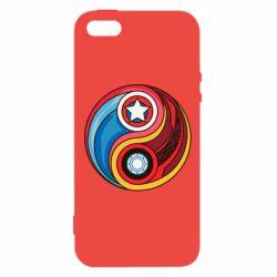 Купить MARVEL, Чехол для iPhone5/5S/SE Captain America & Iron Man, FatLine