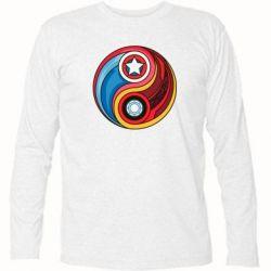 Футболка с длинным рукавом Captain America & Iron Man - FatLine
