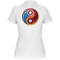 Женская футболка поло Captain America & Iron Man - FatLine