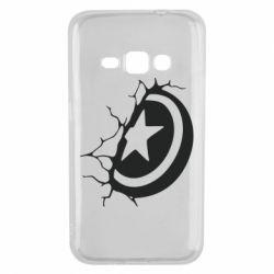 Чохол для Samsung J1 2016 Captain America shield