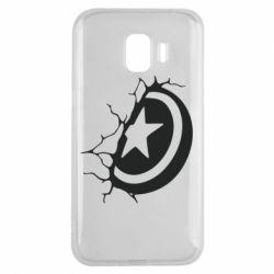 Чохол для Samsung J2 2018 Captain America shield