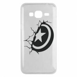 Чохол для Samsung J3 2016 Captain America shield
