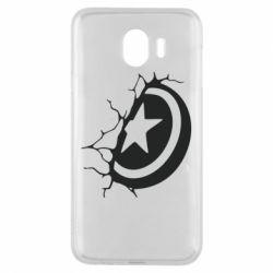 Чохол для Samsung J4 Captain America shield
