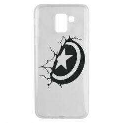 Чохол для Samsung J6 Captain America shield