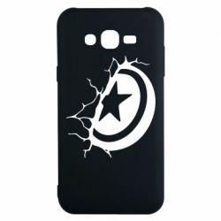 Чохол для Samsung J7 2015 Captain America shield
