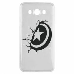 Чохол для Samsung J7 2016 Captain America shield