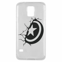 Чохол для Samsung S5 Captain America shield