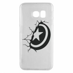 Чохол для Samsung S6 EDGE Captain America shield