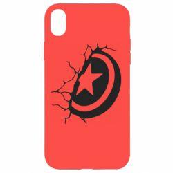 Чохол для iPhone XR Captain America shield