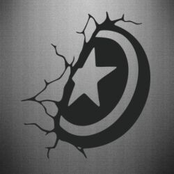 Наклейка Captain America shield