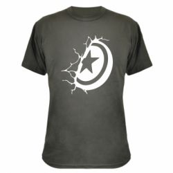 Камуфляжна футболка Captain America shield