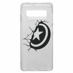 Чохол для Samsung S10+ Captain America shield