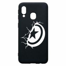 Чохол для Samsung A40 Captain America shield