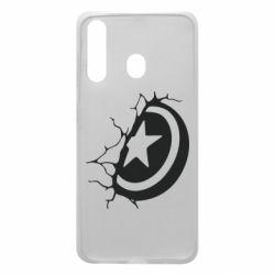 Чохол для Samsung A60 Captain America shield
