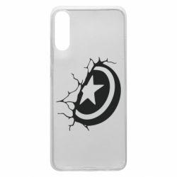 Чохол для Samsung A70 Captain America shield