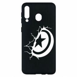 Чохол для Samsung M30 Captain America shield