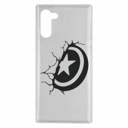 Чохол для Samsung Note 10 Captain America shield