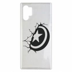 Чохол для Samsung Note 10 Plus Captain America shield