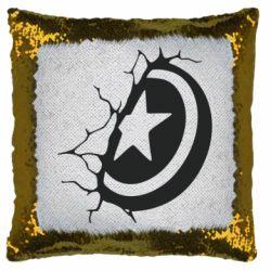 Подушка-хамелеон Captain America shield