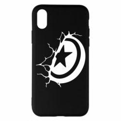 Чохол для iPhone X/Xs Captain America shield