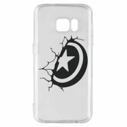 Чохол для Samsung S7 Captain America shield