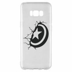Чохол для Samsung S8+ Captain America shield