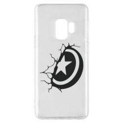 Чохол для Samsung S9 Captain America shield