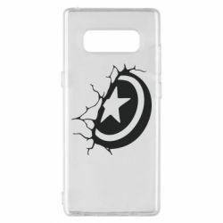 Чохол для Samsung Note 8 Captain America shield