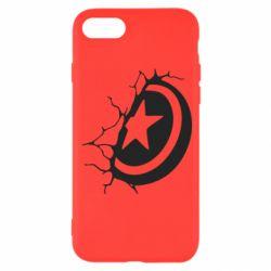 Чохол для iPhone 8 Captain America shield