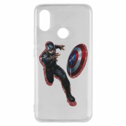 Чехол для Xiaomi Mi8 Captain america with red shadow