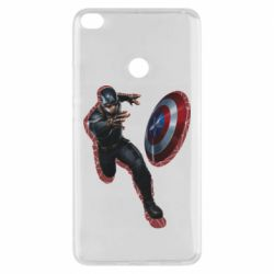 Чехол для Xiaomi Mi Max 2 Captain america with red shadow