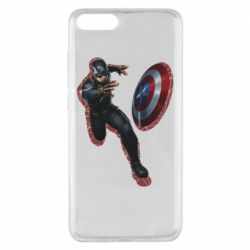 Чехол для Xiaomi Mi Note 3 Captain america with red shadow