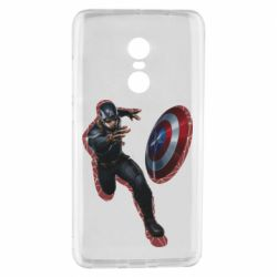 Чехол для Xiaomi Redmi Note 4 Captain america with red shadow