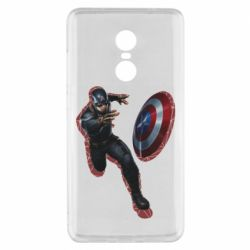 Чехол для Xiaomi Redmi Note 4x Captain america with red shadow