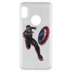 Чехол для Xiaomi Redmi Note 5 Captain america with red shadow