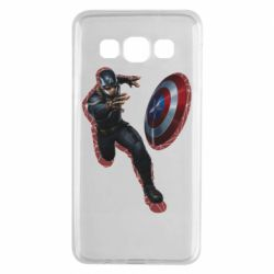 Чехол для Samsung A3 2015 Captain america with red shadow