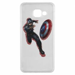 Чехол для Samsung A3 2016 Captain america with red shadow