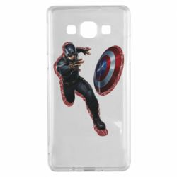 Чехол для Samsung A5 2015 Captain america with red shadow