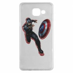 Чехол для Samsung A5 2016 Captain america with red shadow