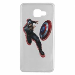 Чехол для Samsung A7 2016 Captain america with red shadow