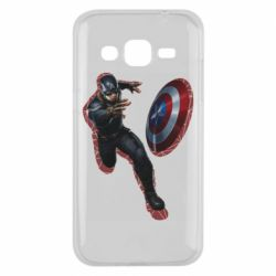 Чехол для Samsung J2 2015 Captain america with red shadow