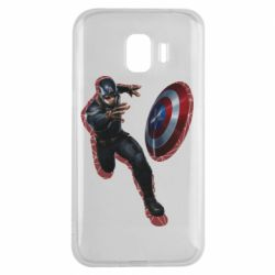 Чехол для Samsung J2 2018 Captain america with red shadow